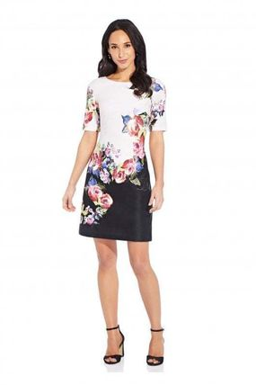 Flower Patterns Casual Style A-line Boat Neck Medium