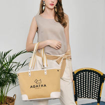 Agatha Casual Style Unisex PVC Clothing Formal Style  Totes
