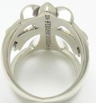 CHROME HEARTS CH CROSS Unisex Street Style Silver Rings