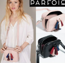 PARFOIS Casual Style Faux Fur Tassel Plain Shoulder Bags