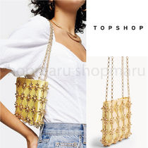 TOPSHOP Flower Patterns Casual Style 2WAY Chain Plain Party Style