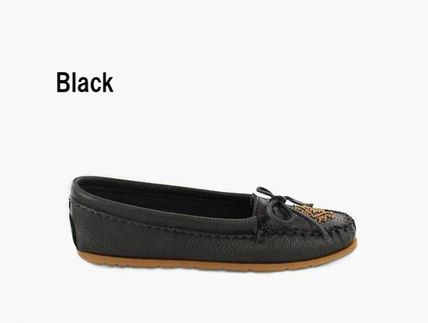 Casual Style Plain Leather Office Style Flats