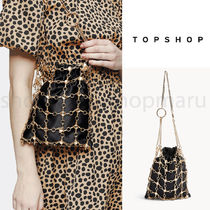 TOPSHOP Casual Style Chain Party Style Purses Elegant Style