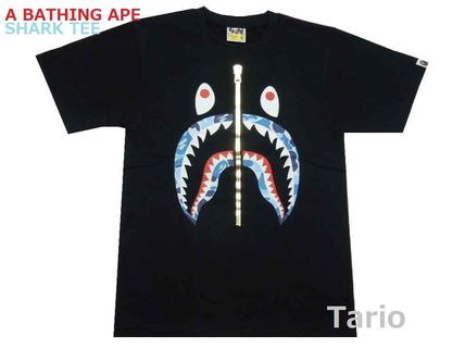 A BATHING APE More T-Shirts Camouflage Street Style Cotton Short Sleeves T-Shirts