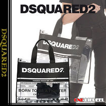 D SQUARED2 Casual Style Blended Fabrics Crystal Clear Bags PVC Clothing