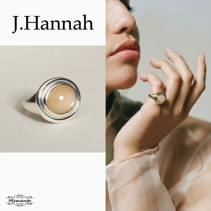 Casual Style Unisex Handmade Silver Rings