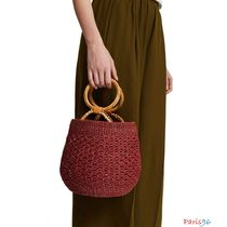 ARANAZ Casual Style Blended Fabrics With Jewels Bold Handbags