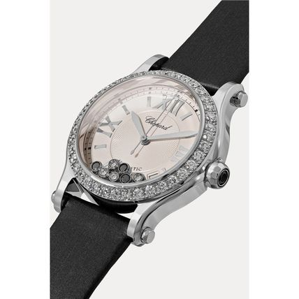 Round Mechanical Watch Jewelry Watches Stainless With Jewels
