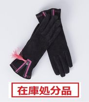 Blanco Tassel Plain Leather Leather & Faux Leather Gloves