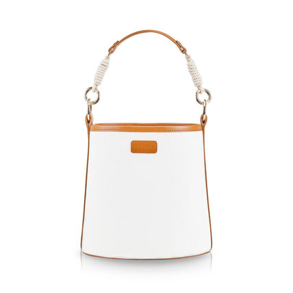 Casual Style 2WAY Plain Leather Purses Formal Style