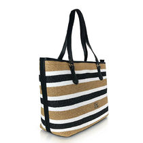 ERMANNO SCERVINO Stripes Casual Style Unisex Blended Fabrics Totes