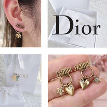 Christian Dior JADIOR Star Casual Style Party Style Elegant Style Bridal Earrings