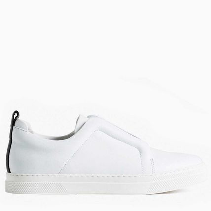 Casual Style Leather Elegant Style Low-Top Sneakers