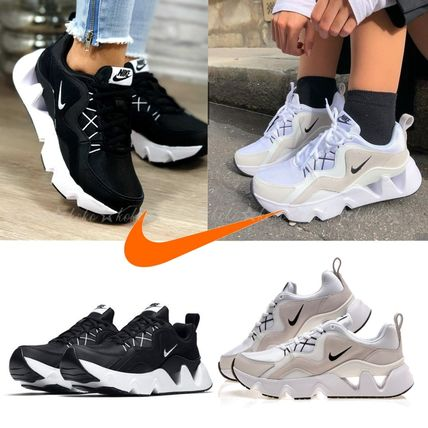 Nike Casual Style Street Style Leather Logo Low-Top Sneakers
