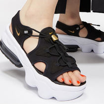 Nike AIR MAX KOKO Open Toe Platform Lace-up Casual Style Street Style Plain
