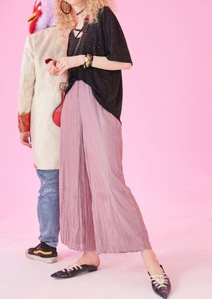 ELF SACK Printed Pants Casual Style Street Style Plain Long