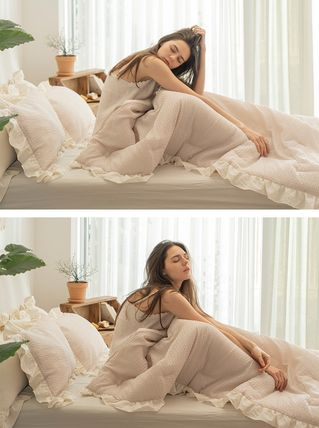 Plain Pillowcases Co-ord Comforter Duvet Covers