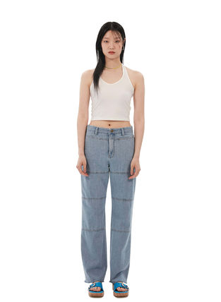 Street Style Cotton Long Jeans