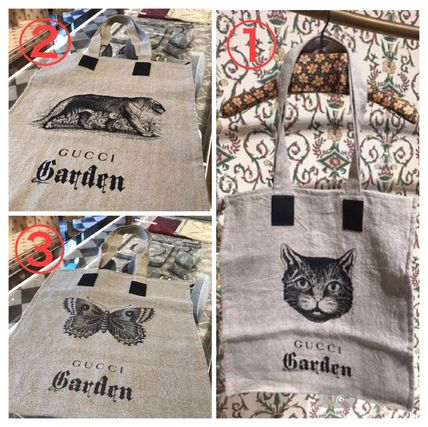 GUCCI Logo Casual Style A4 Other Animal Patterns Totes