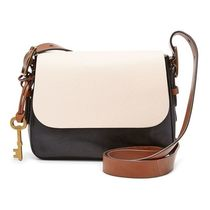 Fossil Casual Style Plain Leather Office Style Elegant Style
