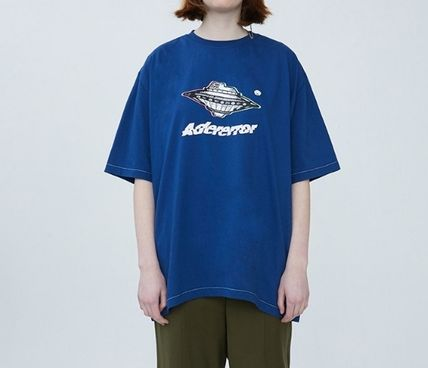 ADERERROR More T-Shirts Unisex Street Style Short Sleeves Oversized Logo T-Shirts
