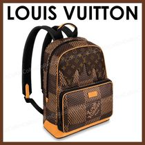 Louis Vuitton DAMIER Unisex Logo Boston Bags