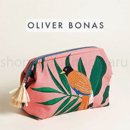 Tropical Patterns Fringes Pouches & Cosmetic Bags