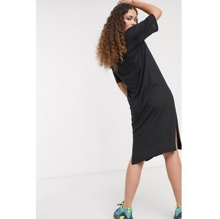 Casual Style Blended Fabrics Street Style Plain Cotton