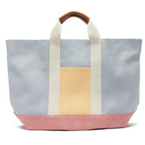 RUE DE VERNEUIL Casual Style Canvas Plain Office Style Totes