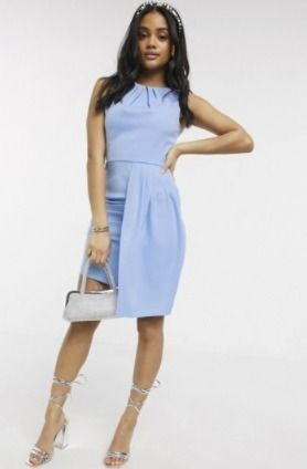 Crew Neck Short Sleeveless Plain Elegant Style Dresses