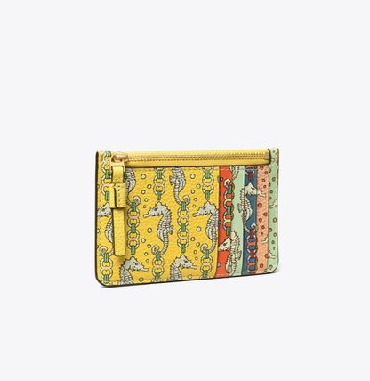 Other Animal Patterns Leather Small Wallet Logo Card Holders