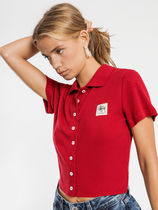 STUSSY Short Casual Style Street Style Plain Cotton Short Sleeves