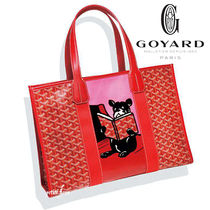 GOYARD Casual Style A4 Other Animal Patterns Elegant Style Totes