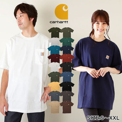 Carhartt More T-Shirts Unisex Street Style Plain Cotton Oversized T-Shirts