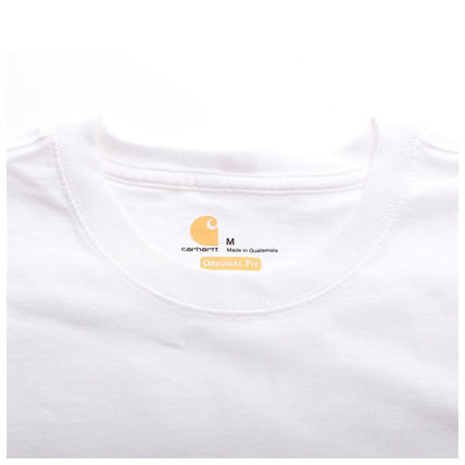 Carhartt More T-Shirts Unisex Street Style Plain Cotton Oversized T-Shirts 3