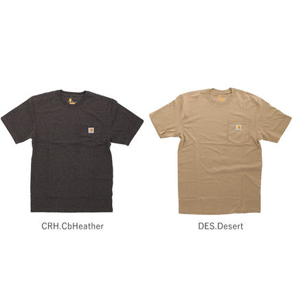 Carhartt More T-Shirts Unisex Street Style Plain Cotton Oversized T-Shirts 10