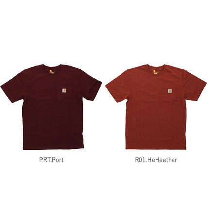 Carhartt More T-Shirts Unisex Street Style Plain Cotton Oversized T-Shirts 14