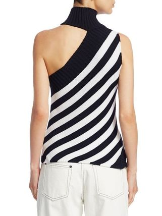 Stripes Casual Style Wool Sleeveless Street Style Medium