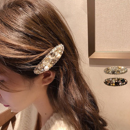 Barettes Casual Style With Jewels Elegant Style Clips