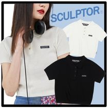 SCULPTOR Casual Style Street Style Short Sleeves Polos