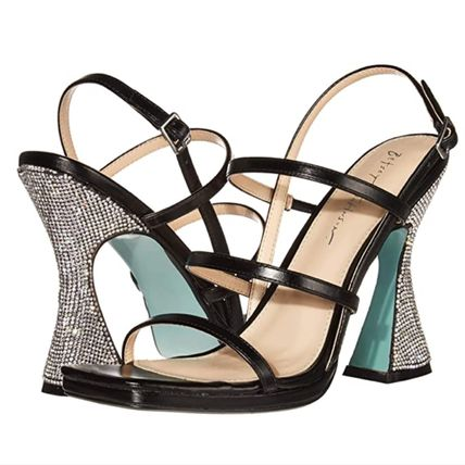 With Jewels Heeled Sandals