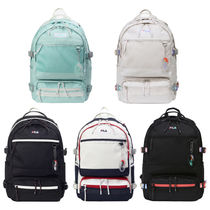 FILA Casual Style Unisex Street Style A4 Plain Logo Backpacks