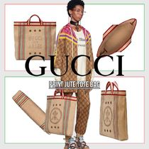 GUCCI Other Plaid Patterns Casual Style Unisex Street Style A4
