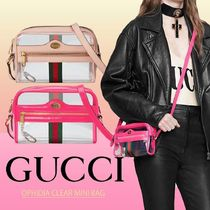 GUCCI Ophidia Casual Style Unisex Blended Fabrics Leather Party Style