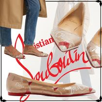 Christian Louboutin Platform Casual Style Leather Block Heels Office Style