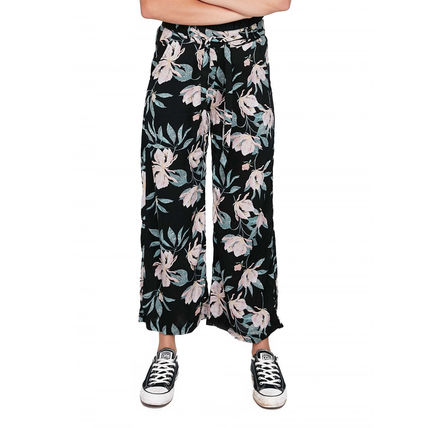 ROXY Flower Patterns Tropical Patterns Casual Style Cotton Medium