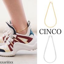 CINCO Casual Style Unisex Chain Handmade Party Style Silver