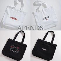 AFENDS Casual Style Unisex A4 Logo Totes