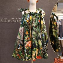 Dolce & Gabbana Short Tropical Patterns Casual Style Flared Street Style