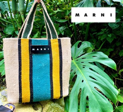 MARNI Stripes Tropical Patterns Casual Style Unisex A4